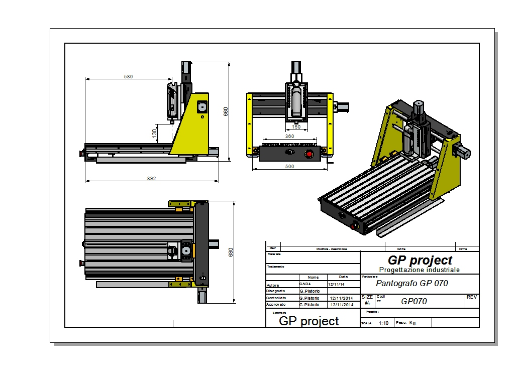 Pantografo CNC GP070